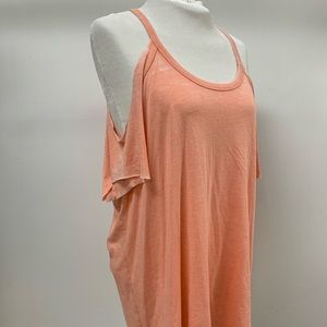 EXPRESS HEATHER PEACH OFF SHOULDER TOP